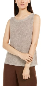 Eileen Fisher Organic Linen Sleeveless Sweater