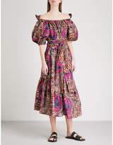 Stella McCartney Jeny off-the-shoulder cotton midi dress