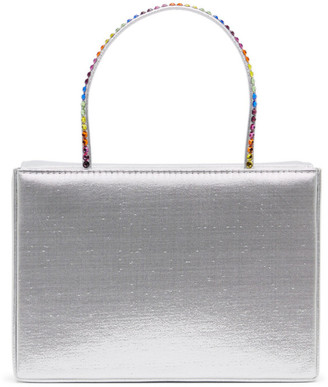 Amina Muaddi Silver Amini Gilda Bag