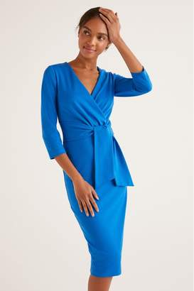 Boden Womens Blue Sophie Ponte Dress - Blue