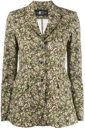 Luisa Cerano Floral-Print Single Breasted Blazer