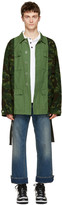Off-White Green Camouflage Field Jacket