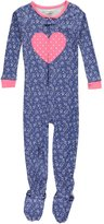 "Carter's Little Girls' Toddler ""Heart Bouquet"" Footed Pajamas - ,t"