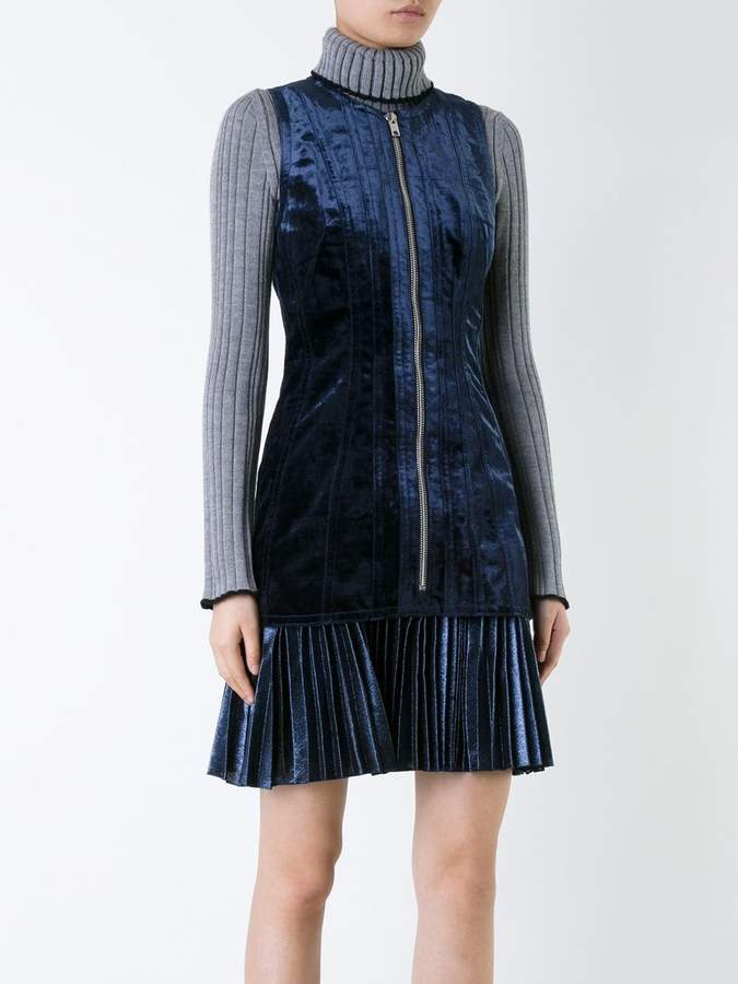 3.1 Phillip Lim bonded velvet dress