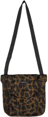 Engineered Garments Brown Velvet Leopard Tote