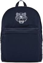 Kenzo Blue Nylon Tiger Backpack