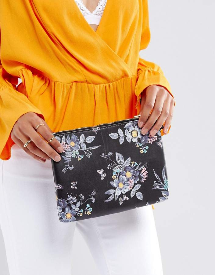 Oasis Floral Printed Clutch