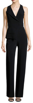 Cushnie et Ochs Stretch Cady V-Neck Jumpsuit
