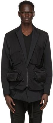 Julius Black Cargo Vest Blazer