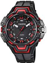 Calypso Unisex Quartz Watch with Black Dial Analogue Display and Black Plastic Strap K5687/2