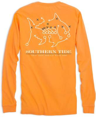 Southern Tide Tennessee Vols Skipjack Long Sleeve T-Shirt