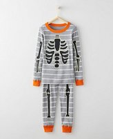 Kids Glow In The Dark Long John Pajamas In Organic Cotton