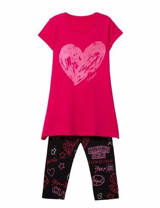 Desigual Girl's Knit T-Shirt Short Sleeve (Pack_Papaya)