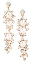 Tasha Women's Crystal & Faux Pearl Drop Earrings