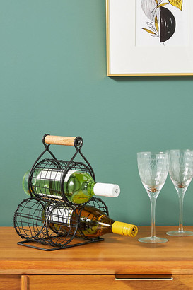 Anthropologie Phoebe Wine Rack By in Black Size ALL