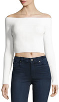 Cameo Life is Real Off-the-Shoulder Crop Top, White