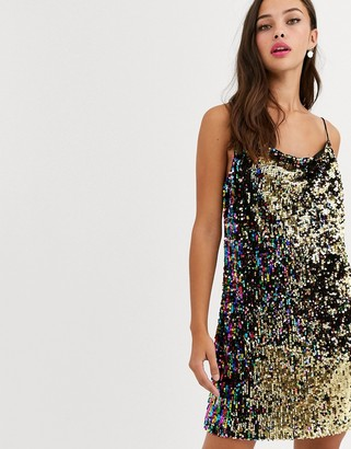 Daisy Street cami mini dress with spaghetti straps in sequin