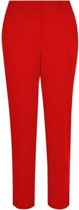 Dorothy Perkins Womens Red Split Hem Ankle Grazer Trousers, Red