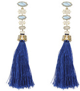 Margaret Elizabeth - Laurel Tassel Earrings Labradorite, Moonstone & Lapis