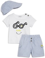 Absorba Boys' Hello Tee, Shorts & Hat Set
