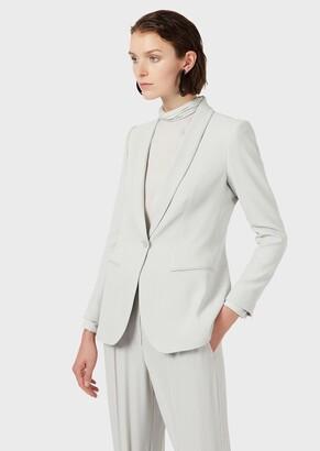 Emporio Armani Micro Check Jacquard Jacket