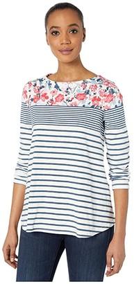 Joules Harbour Light Print (Cream/Blue Floral Border) Women's Clothing