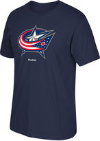 Reebok Men's Columbus Blue Jackets Jersey Crest T-Shirt