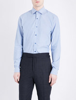 Duchamp Indy tailored-fit cotton-jacquard shirt
