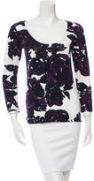 Piazza Sempione Floral Print Long Sleeve Top