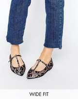 Asos LONG LIFE Wide Fit Pointed Ballet Flats