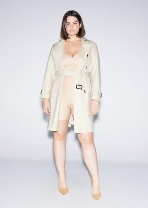 MANGO Violeta BY High-waist shape leggings nude - M - Plus sizes