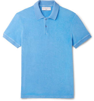 Orlebar Brown + 007 Dr No Cotton-terry Polo Shirt - Blue
