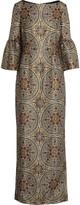Vilshenko Metallic jacquard maxi dress