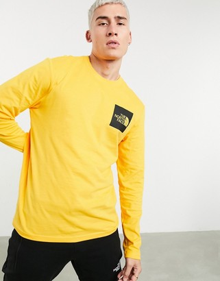 The North Face Fine long sleeve t-shirt in yellow