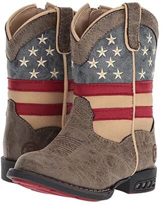 Roper Patriot (Toddler) (Faux Leather Vamp Stars & Stripes Shaft) Cowboy Boots