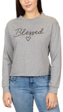 Rebellious One Juniors' Blessed Long-Sleeved Graphic T-Shirt