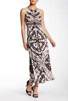 London Times Woodstamp Batik Maxi Dress (Petite)