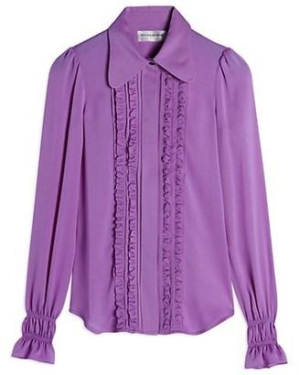 Victoria Beckham Frill Detail Silk Blouse