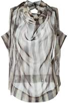 Vivienne Westwood striped cowl neck blouse