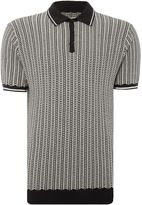 Peter Werth Men's Naval Colour Chain Knitted Cotton Polo