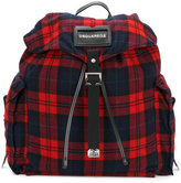 DSQUARED2 tartan backpack - men - Leather/Wool - One Size