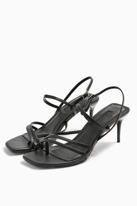 Topshop Womens Nicole Black Strap Sandals - Black