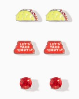 Charming charlie Lets Taco Bout It Earring Set