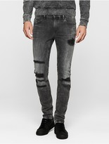 Calvin Klein Super Skinny Patched Jeans