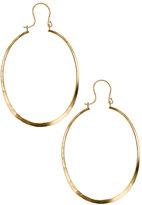 Gold Lightweight Oval Hoops