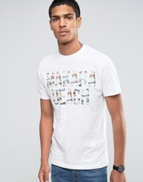 Celio Crew Neck T-shirt with Summer Vibe Print