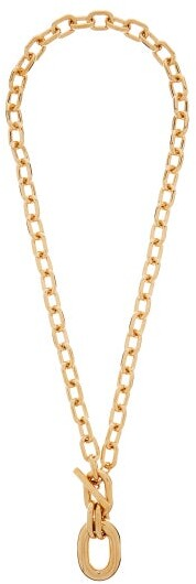 Paco Rabanne Hoop-pendant Chain Necklace - Gold