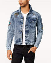 Bioworld Men's Nasa Patch Denim Jacket