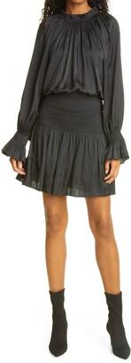 Ramy Brook Margerie Smocked Long Sleeve Dress