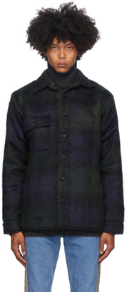Bless Reversible Navy and Green Woodhacker Jacket